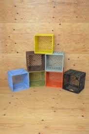 Primary Color Milk Crates Milk Crate Furniture Milk Crates Crate Furniture