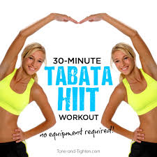 30 minute at home tabata hiit workout