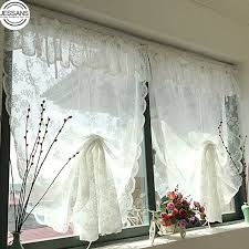Pastoral European Curtain Sheer For Living Room Windows Dining Room Lace Up Door Princess Yarn Tulle Roman Blinds For Bedroom Curtains Aliexpress