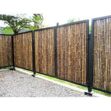 Backyard X Scapes 1 In D X 3 Ft H X 8 Ft W Black Rolled Bamboo Fence Hdd Bf11black The Home Depot