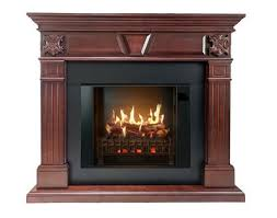 cherry wood electric fireplace mantel