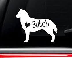 Siberian Husky Dog Car Decal With Custom Name 3 00 Picclick