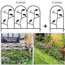 Amagabeli Garden Home Garden Fence Border Iron Animal Barrier Black Metal Folding Wire Patio Fencing