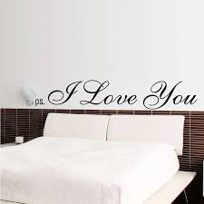 Ps I Love You Wall Decal Home Decor Sweet Romance Quotes Decal Living Room Bedroom Wallpaper Removable Vinyl Wall Sticker Ea023 Wall Stickers Aliexpress