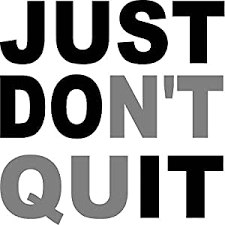 Amazon Com Creativesignsndesigns Just Don T Quit Just Do It Gym Motivational Vinyl Wall Decal Black Gray 22 X22 Home Kitchen