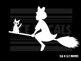 Kiki S Delivery Service Kiki Jiji Ghibli Anime Vinyl Decal Sticker 4 99 Picclick