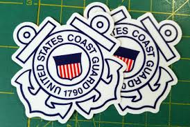 Sticker United States Coast Guard Auxiliary Flag Decal