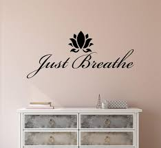 Vinyl Wall Decal Stickers Motivation Quote Yoga Relaxing Words Inspiri Wallstickers4you