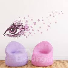 Pink Fairy Eye And Butterflies Print Kids Room Wall Decals Beddinginn Com
