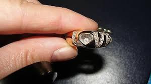 18k yellow gold floating pave diamond