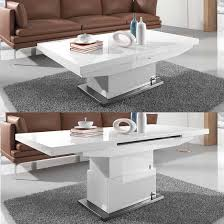 dining table in white gloss