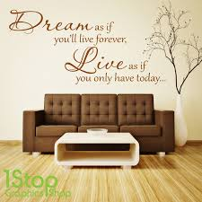 Dream Live Wall Sticker Quote Bedroom Lounge Wall Art Decal X170 Ebay