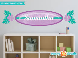 Sunny Decals Surf Board With Custom Name Personalized Wall Decal Wayfair