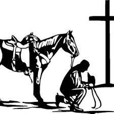 Praying Cowboy Cowgirl Cross Horse Christ Car Truck Window Etsy