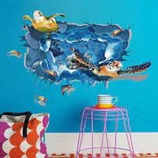 Sea Turtle 3d Wall Sticker Ocean Life Store