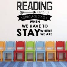 Reading Vinyl Decals Education Themed Wall And Window Decor Stickers