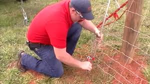 Installing Woven Field Fence Youtube