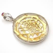 quartz merkabah sri yantra pendant