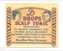 C 1920 S 30 S Barbershop Window Decal Adv Scalp Tonic Pictures Barber Poles 1831146419