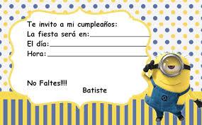 Minions Tarjetas De Invitacion Buscar Con Google Invitacion
