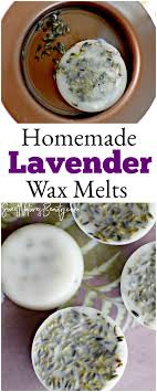 homemade lavender wax melts for