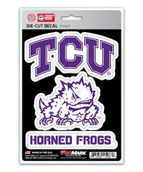 Team Promark Tcu Horned Frogs Logo Car Decal Set Of Three Zulily