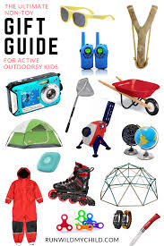 non toy gift guide for outdoorsy kids