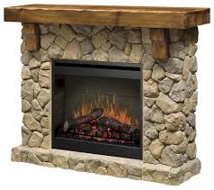 rustic stone flat wall fireplaces