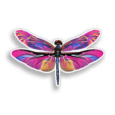 Pink Purple Dragonfly Sticker Dragon Fly Insect Cup Laptop Car Etsy