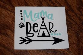 Mama Bear Decal Mama Bear Sticker Mama Bear Bear Decal Family Car Decal Decal For Women Mom Decal Mama Bear Car De Bear Decal Mama Bear Decal Car Decals