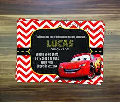Invitaciones De Cars El Rayo Mcqueen Drawbujo Wall
