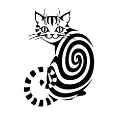 2 Pieces Car Sticker 12 5cm 17 5cm Cheshire Cat Animal Vinyl Stickers Decals Decor Black Silver Wish