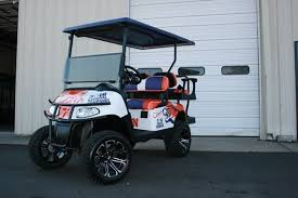 Clemson Tigers National Champion Lifted Golf Cart Ezg 085 Metrolina Carts Rock Hill Sc