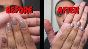 how to trim acrylic nails at home you