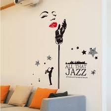 All That Jazz Music Marilyn Monroe Wall Art Sticker Vinyl Wall Decals