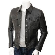 shirt fashion leather jacket