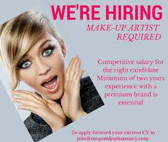 makeup artist job vacancies saubhaya