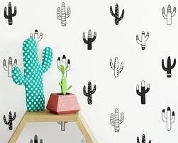Cactus Wall Decals Nursery Decals Vinyl Wall Decals Tribal Etsy