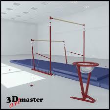 3d модель Гимнастика Неровные Бары