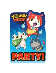 Invitaciones Yokai Watch Para Fiestas Cumpleanos Y Decoraciones