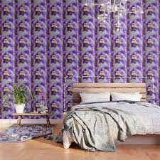 ble bee and larkspur wallpaper by