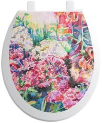 Watercolor Floral Toilet Seat Decal Youcustomizeit