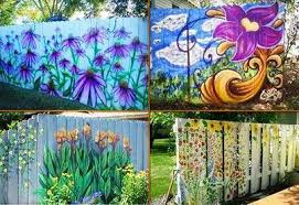 Pin By Alexandra Stern On Decoration Fence Art Fence Paint Fence Decor