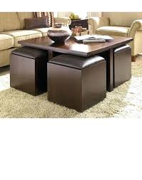 ottoman with stools underneath