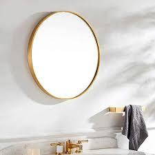 modern large round mirror