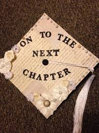 graduation cap for an english major on to the next chapter