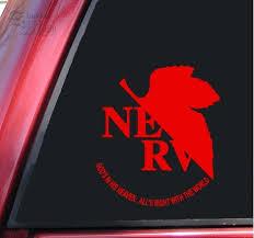 Neon Genesis Evangelion Nerv Vinyl Decal Sticker 6 X 5 3 Wish