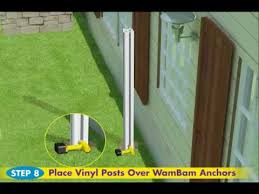 Wambam Fence S No Dig Vinyl Privacy Fence Installation Youtube