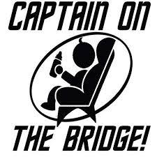 Amazon Com Captain On The Bridge Vinyl Decal Sticker Handmade