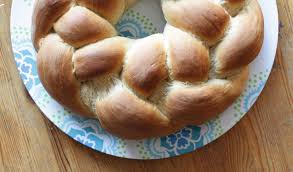 braided yeast bread with sweet filling
